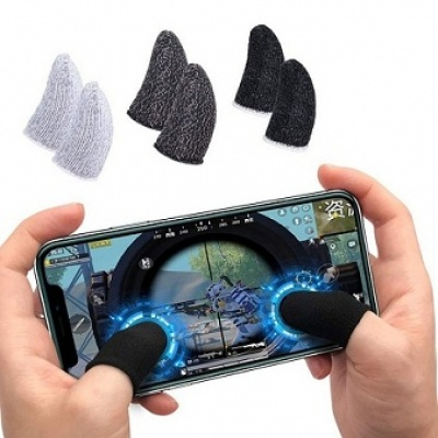 Thumb & Finger Sleeve for Mobile Game, Anti-Sweat & Breathable for Pubg,Freefirepa pack of 2