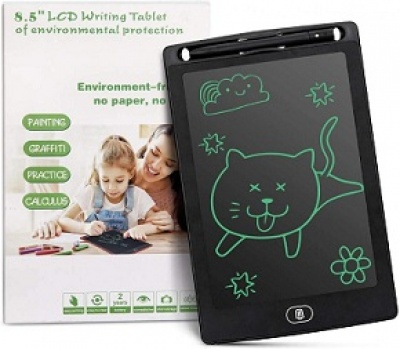 LCD Writing Tablet, 8.5-Inch Writing Board Doodle Electronic Pads Drawing (Colors May Vary)